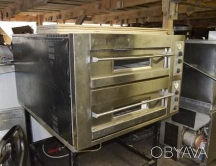 Пицца печь (подовая печь) два поста б/у OEM DB 12.35S предназначена для приготов. Киев, Киевская область. фото 1