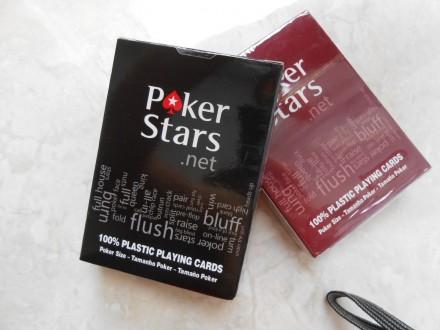 Карты игральные Poker Stars пластиковые. Яворов. фото 1