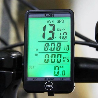 Безпровідний велокомп'ютер SunDing SD-576C спідометр годинник термометр 27 функц. Львов. фото 1