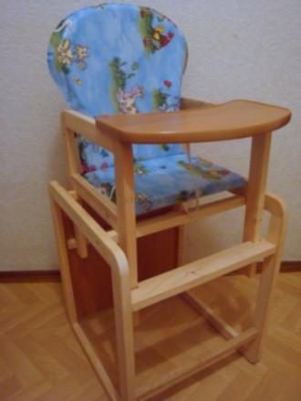 Стульчик стул для кормления Из Цельного Бруса. Кременчуг. фото 1