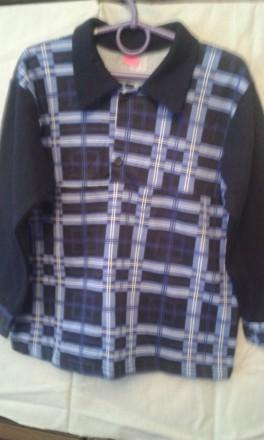 рубашка теплая,трикотажная,хлопок,изнанка с начесом,разных размеров. Киев. фото 1