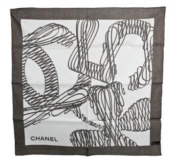 Элегантный легкий женский платок Chanel, оригинал, Италия. Киев. фото 1