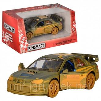 """Машина металл """"KINSMART """" KT5328WY (96шт/4) """"Subaru Impreza WRC 2007 (Muddy) """" в. Одесса, Одесская область. фото 3"""