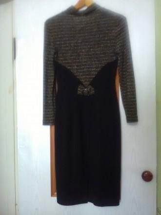 Красивое, теплое и главное презентабельное платье в очень хорошем состоянии, 46 . Днепр, Днепропетровская область. фото 3