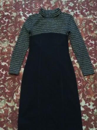 Красивое, теплое и главное презентабельное платье в очень хорошем состоянии, 46 . Днепр, Днепропетровская область. фото 4