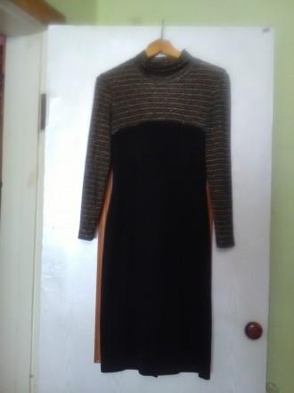 Красивое, теплое и главное презентабельное платье в очень хорошем состоянии, 46 . Днепр, Днепропетровская область. фото 2