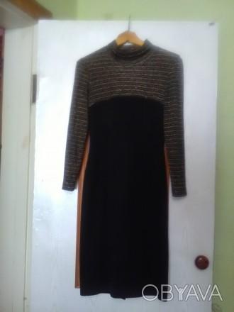 Красивое, теплое и главное презентабельное платье в очень хорошем состоянии, 46 . Днепр, Днепропетровская область. фото 1