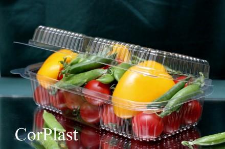 Одноразовый контейнер 130*230*68, блистер упаковка, одноразовая посуда. Киев. фото 1