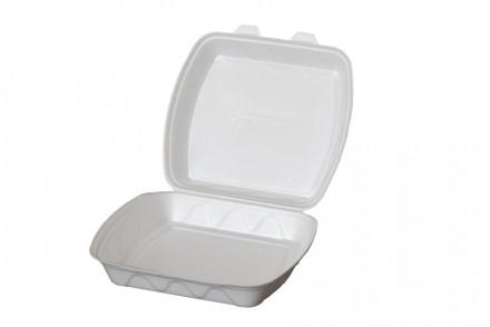 Ланч бокс из полистирола без делений, контейнер пищевой, одноразовая посуда. Киев. фото 1