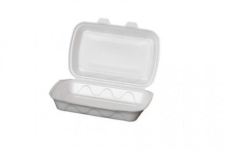 Ланч бокс из полистирола большой, контейнер пищевой, одноразовая посуда. Киев. фото 1