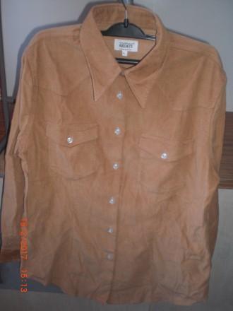 Сорочка коричнева,вільвет Santina Rocchetti. Новий Роздол. фото 1