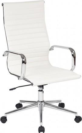 Современное офисное кресло на хромированной основе делает кресло прочным. Мягкая. Днепр, Днепропетровская область. фото 2
