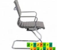Кресло офисное, средняя спинка, сидение из прошитого кожзама, кресло вращается и. Днепр, Днепропетровская область. фото 4