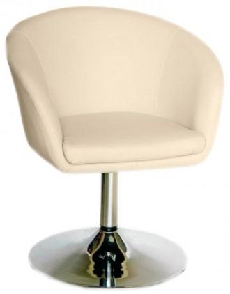 Кресло парикмахерское, искусственная кожа, регулируется с помощью гидравлическог. Днепр, Днепропетровская область. фото 2