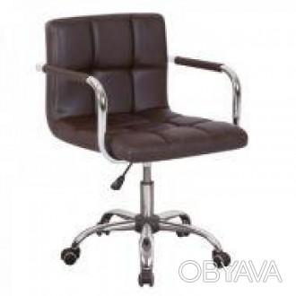 Кресло мягкое, сиденье, материал экокожа, цвет черный, регулируется по высоте, . Днепр, Днепропетровская область. фото 1