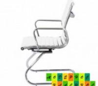 Кресло офисное, средняя спинка, сидение из прошитого кожзама, ЦВЕТ черный, на хр. Днепр, Днепропетровская область. фото 2