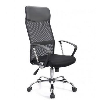 Кресло компьютерное с удобной спинкой среднего размера, черного цвета. Кресло с. Днепр, Днепропетровская область. фото 3