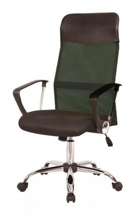 Кресло компьютерное с удобной спинкой среднего размера, черного цвета. Кресло с. Днепр, Днепропетровская область. фото 4