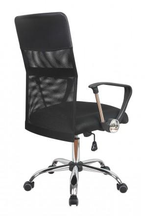 Кресло компьютерное с удобной спинкой среднего размера, черного цвета. Кресло с. Днепр, Днепропетровская область. фото 5
