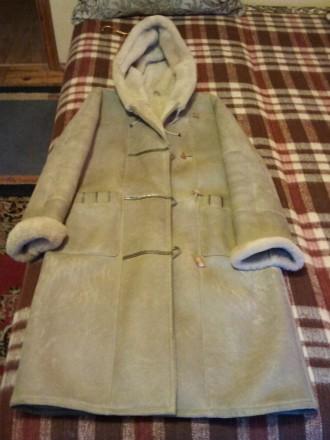 Натуральная дубленка ZEYBEK Leather из Стамбула  капюшоном белая привлекательная. Запорожье. фото 1