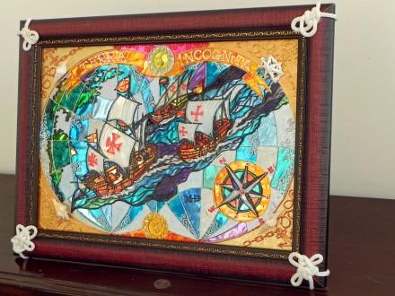 Панно-сувенир «Эскадра Колумба». Чернигов. фото 1