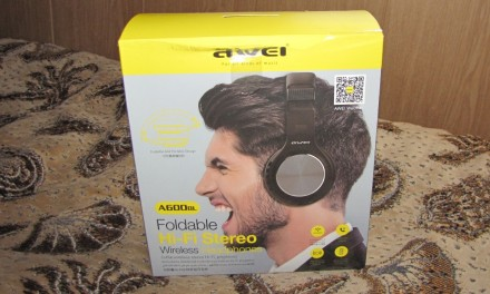 Беспроводные наушники AWEI А600 bl  Hi-Fi Stereo черные. Одесса, Одесская область. фото 3
