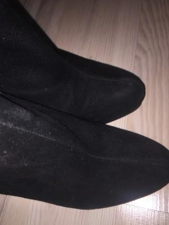 черные замшевые ботинки ботильоны американского бренда Dolce Vita на шпильке с о. Киев, Киевская область. фото 9