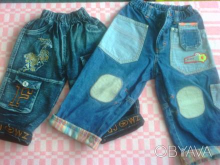 Продам джинсы в отличном состоянии, без дефектов.  Фото 2,3,4,5 на 1-2 года. Об. Изюм, Харьковская область. фото 1