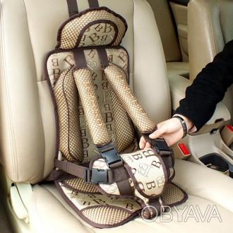 Детское бескаркасное автокресло для детей до 5 лет  . Закрепляется ремнями за сп. Киев, Киевская область. фото 1