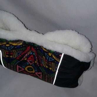 Продаю теплую муфту на коляску и санки. Изготовлена из плотной плащевки и овчинк. Николаев, Николаевская область. фото 4