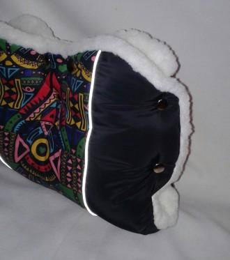 Продаю теплую муфту на коляску и санки. Изготовлена из плотной плащевки и овчинк. Николаев, Николаевская область. фото 5