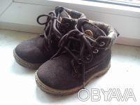 Стильные зимние ботинки натуральный замш размер 25. Волноваха. фото 1
