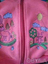 Трикотажный комплект состоит из джемпера, жилетки и штанишек. Удобный джемпер из. Малин, Житомирская область. фото 4