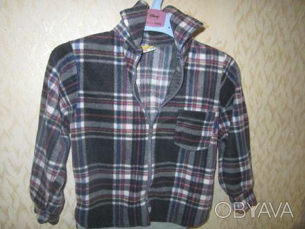 Рубашка теплая на мальчика 3-4 года на молнии в отличном состоянии, мягкая, прия. Харків, Харківська область. фото 1