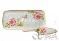 Набор посуды для торта коллекция Rose Cottage. Харьков. фото 1