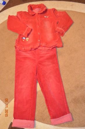 Вельветовый теплый костюм (комбинезон) для девочкт. Винница. фото 1