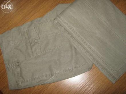 Торг! Летние брюки лен-хлопок,цвет-хаки,Германия ,размер 52.. Трускавец. фото 1