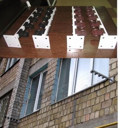 Сушилка для белья с роликами за окно или балкон., киев - oby.