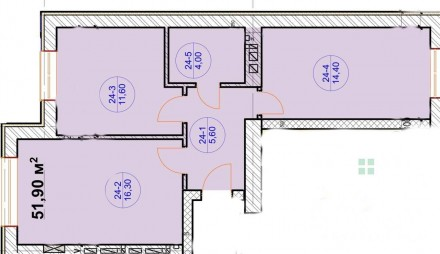 Общая площадь: 57,9 м2; Жилая площадь: 28 м2; Площадь кухни: 17,3м2; Этаж/этажно. Ирпень, Киевская область. фото 5