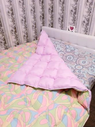 Одеяло кассетное с синтетическим наполнителем(холлофайбер),размеры есть разные,ц. Чернигов, Черниговская область. фото 3