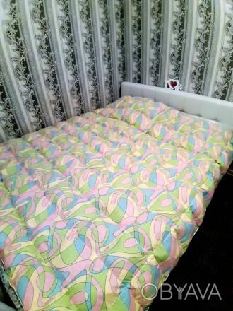 Одеяло кассетное с синтетическим наполнителем(холлофайбер),размеры есть разные,ц. Чернигов, Черниговская область. фото 1