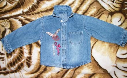 Джинсовая рубашка на 1-2 года. Харьков. фото 1