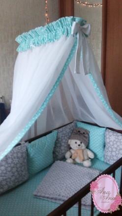 Балдахин в детскую кроватку. Сумы. фото 1