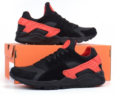 Кроссовки мужские кожаные Nike Huarache black&red. Харьков. фото 1