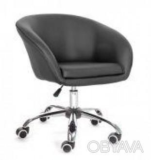 Кресло с широким сидением, материал экокожа, регулируется по высоте с помощью га. Днепр, Днепропетровская область. фото 1