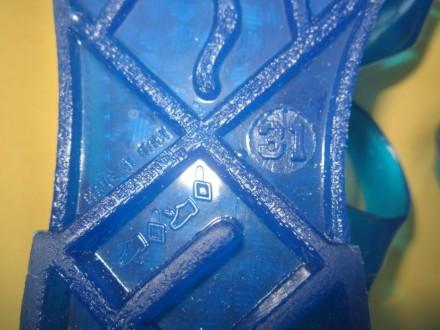 Новые синие мыльницы, силиконовые босоножки, р.31, Италия, Сток. Длина стельки . Пирятин, Полтавская область. фото 5