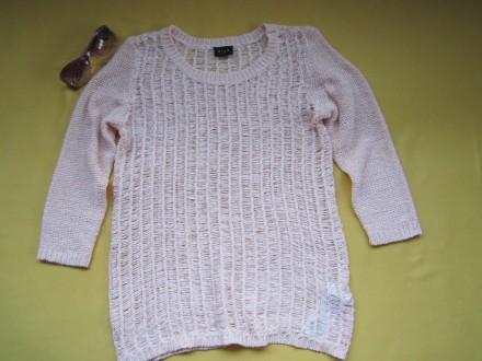 Красивый ажурный свитер, кофточка , джемпер с укороченным рукавом , р. М, Vila . Пирятин, Полтавская область. фото 2