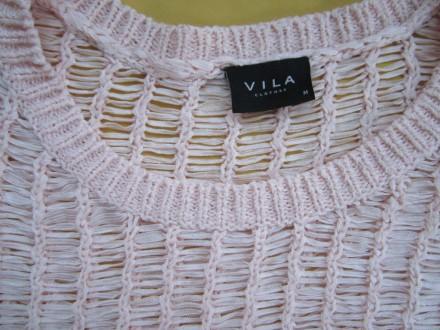 Красивый ажурный свитер, кофточка , джемпер с укороченным рукавом , р. М, Vila . Пирятин, Полтавская область. фото 3
