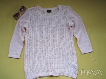 Красивый ажурный свитер, кофточка , джемпер с укороченным рукавом , р. М, Vila . Пирятин, Полтавская область. фото 1