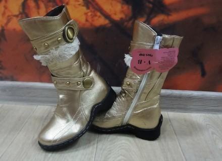 Демисезонные, стильные сапожки для девочки. Белая Церковь. фото 1
